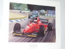 GERMAN GP 1994 Ferrari Gerhard Berger by Michael Turner